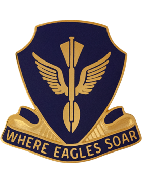 132nd Aviation Battalion Unit Crest (Where Eagles Soar)