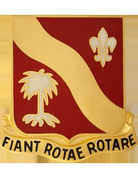 132nd Field Artillery Unit Crest (Fiant Rotae Rotare)