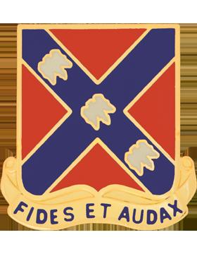 134th Field Artillery Unit Crest (Fides Et Audax)