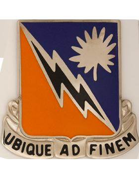 151st Signal Battalion Unit Crest (Ubique Ad Finem)