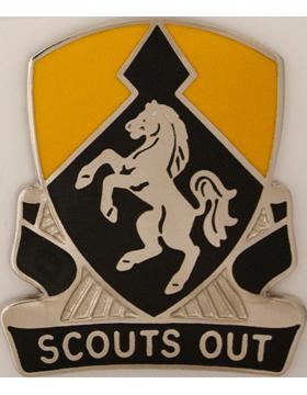 153rd Cavalry Regiment Unit Crest (Scouts Out)