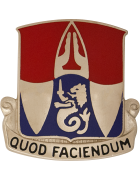 153rd Engineer Battalion Unit Crest (Quod Faciendum)
