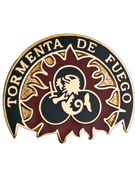 0153 Field Artillery Brigade Unit Crest (Tormenta De Fuego)