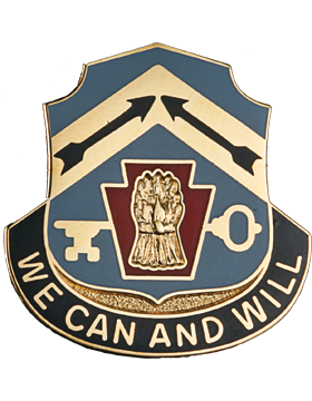 0154 Quartermaster Battalion Unit Crest (We Can And Will) small
