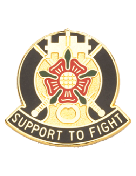 0155 Support Battalion Unit Crest (Support To Fight)