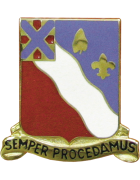 156th Field Artillery Unit Crest (Semper Procedamus)