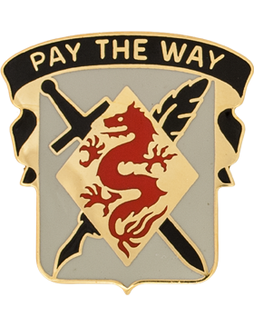 176th Finance Company Unit Crest (Pay The Way)