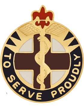 176th Medical Brigade Unit Crest (To Serve Proudly) Formerly Medical Group