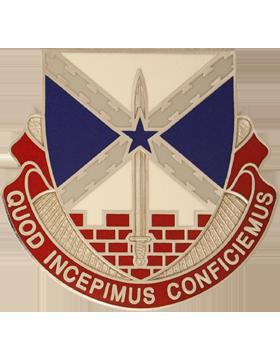 176th Engineer Brigade Unit Crest (Quod Incepimus Conficiemus)