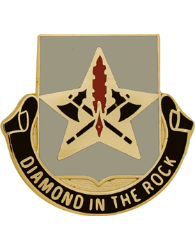 177th Finance Battalion Unit Crest (Diamond In The Rock)