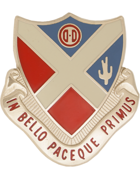 179th Air Defense Artillery Unit Crest (In Bello Paceque Primus)