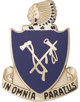 179th Infantry Battalion Unit Crest (In Omnia Paratus)