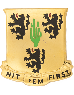 181st Field Artillery Unit Crest (Hit Em First)
