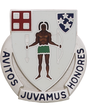 0182 Infantry ARNG Massachusetts Unit Crest (Avitos Juvamus Honores)