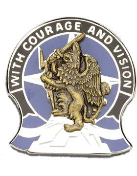 0201 Military Intelligence Bde Unit Crest (With Courage And Vision)