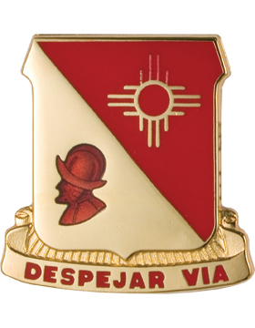 202nd Field Artillery Unit Crest (Despejar Via)