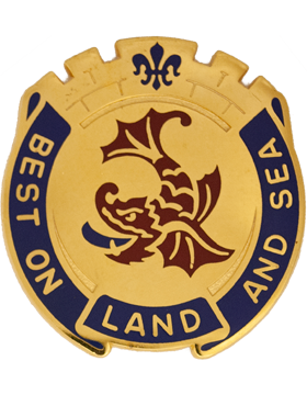 0202 Support Battalion Unit Crest (Best On Land And Sea)