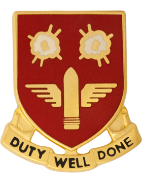 203rd Air Defense Artillery Unit Crest (Duty Well Done)