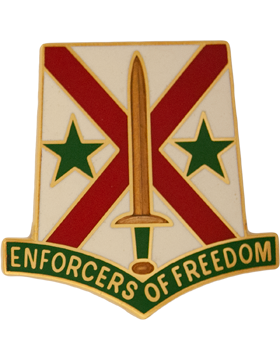 203rd Military Police Battalion Unit Crest (Enforcers Of Freedom)