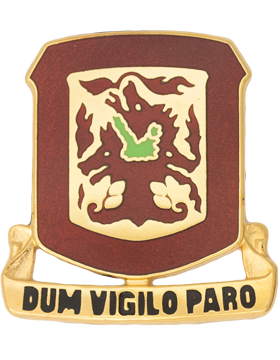 204th Air Defense Artillery Unit Crest (Dum Vigilo Paro)