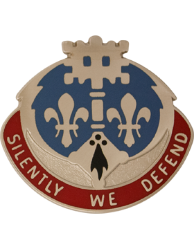 0204 Military Intelligence Battalion Unit Crest (Silently We Defend)