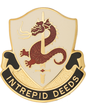 204th Regiment Unit Crest (Intrepid Deeds)