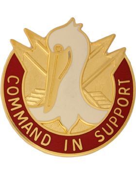 204th Support Group Unit Crest (Command In Support)