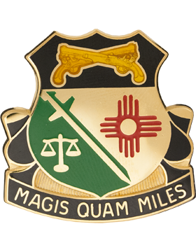226th Military Police Battalion Unit Crest (Magis Quam Miles)