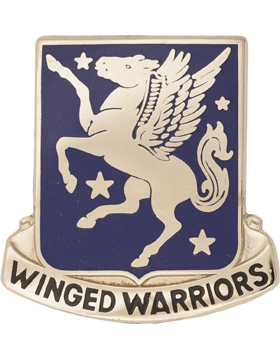 228th Aviation Unit Crest (Winged Warriors)
