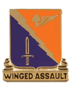 229th Aviation Battalion Unit Crest (Winged Assault)