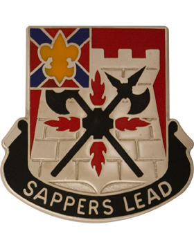 229th Engineer Battalion Unit Crest (Sappers Lead)