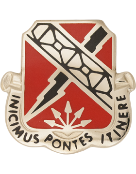 230th Engineer Battalion Unit Crest (Inicimus Pontes Itinere)
