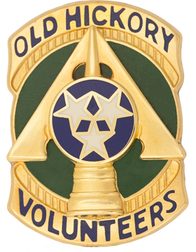 230th Support Group Unit Crest (Old Hickory Volunteers)