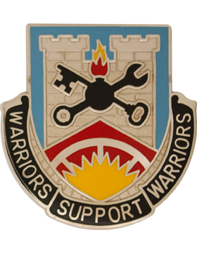 231st Support Battalion Unit Crest (Warriors Support Warriors)