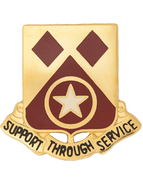 0249 Support Bn Unit Crest (Support Through Service)