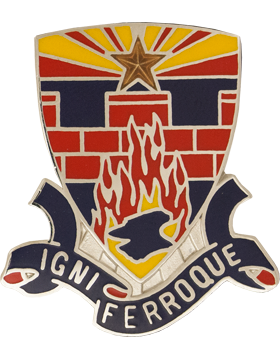 253rd Engineer Battalion Unit Crest (Igni Ferroque)