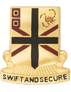 254th Transportation Battalion Unit Crest (Swift and Secure)