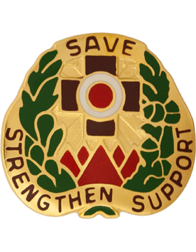 256th Combat Support Hospital Unit Crest (Save Strengthen Support)
