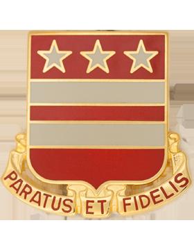 0258 Field Artillery Unit Crest (Paratus Et Fidelis)