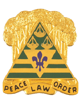 260th Military Police Brigade Unit Crest (Peace Law Order)