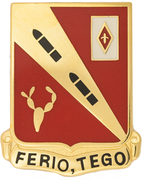 260th Regiment Unit Crest (Ferio Tego)