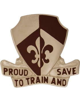 0261 Medical Battalion Unit Crest (Proud To Train And Save)
