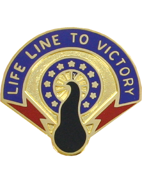 262nd Quartermaster Battalion Unit Crest (Life Line To Victory)