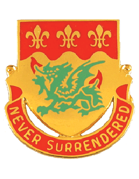 263rd Armor Battalion Unit Crest (Never Surrendered)