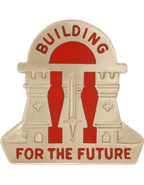 265th Engineer Group Unit Crest (Building For The Future)