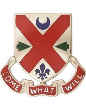 265th Engineer Battalion Unit Crest (Come What Will)
