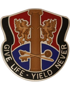 272nd Support Group Unit Crest (GIVE LIFE  -YIELD NEVER)
