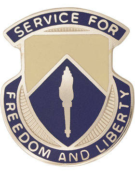 0277 Quartermaster Battalion Unit Crest (Service For Freedom And Liberty)