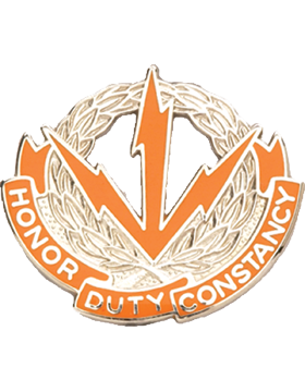 0280 Signal Battalion Unit Crest (Honor Duty Constancy)