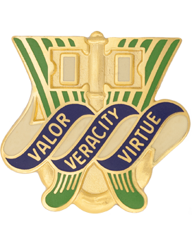 0286 Quartermaster Battalion Unit Crest (Valor Veracity Virtur)